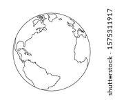 globe icon vector on white...