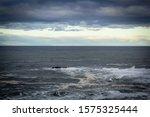 Stormy Sea In Dunbar  A Seasid...