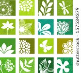 floral icons | Shutterstock .eps vector #157534379
