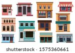 set of cafe building isolated...   Shutterstock .eps vector #1575360661