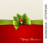 holiday background with green... | Shutterstock .eps vector #157539185
