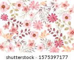 watercolor seamless floral... | Shutterstock .eps vector #1575397177