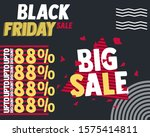 black friday sale banner layout ... | Shutterstock .eps vector #1575414811
