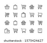 set of shopping cart icons.... | Shutterstock .eps vector #1575424627