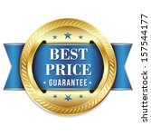 gold blue best price badge | Shutterstock .eps vector #157544177