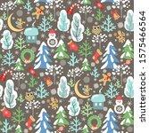 childish funny christmas... | Shutterstock .eps vector #1575466564