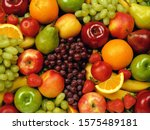 Fruits Stacked Together On A...
