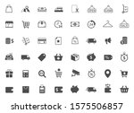 shopping vector icons set...