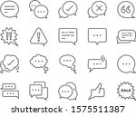 chat and quote line icon set.... | Shutterstock .eps vector #1575511387