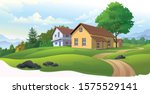 houses in europe with green... | Shutterstock .eps vector #1575529141