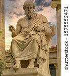 plato the ancient greek... | Shutterstock . vector #1575553471