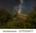 parthenon ancient temple on... | Shutterstock . vector #1575553477