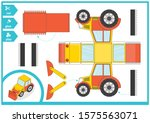 cut and glue a paper car.... | Shutterstock .eps vector #1575563071