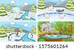background scenes of animals in ... | Shutterstock .eps vector #1575601264