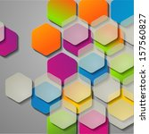 Colored Hexagons And Glass