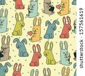 rabbits pattern.   Shutterstock .eps vector #157561619