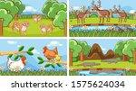 background scenes of animals in ... | Shutterstock .eps vector #1575624034