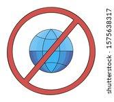 no web allowed icon. website...