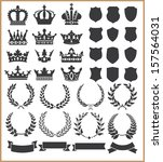 wreaths and crowns | Shutterstock . vector #157564031