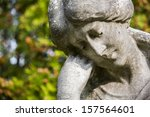 Statue Of Female Resting Head...