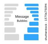 set of chat speech bubbles....   Shutterstock .eps vector #1575675094