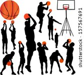basketball players collection... | Shutterstock .eps vector #157567691