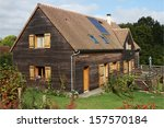 French Wooden House With Solar...