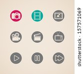 flat icons for web and mobile... | Shutterstock .eps vector #157571069