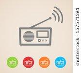 vector radio icons   Shutterstock .eps vector #157571261