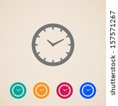 vector clock icon | Shutterstock .eps vector #157571267