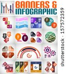 big set of infographic banners... | Shutterstock .eps vector #157572359
