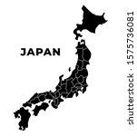 Japan Blank Map Regions And...