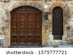 Italy  Old Door On Medieval...