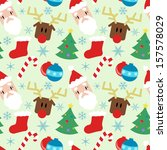 funny pattern with christmas...   Shutterstock . vector #157578029
