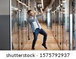 In Office Hallway Dancing Happy ...