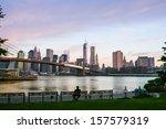 Sunset Over New York City ...