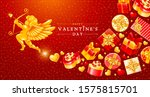 valentines day greeting card... | Shutterstock .eps vector #1575815701