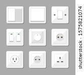 plug and socket set vector... | Shutterstock .eps vector #1575821074
