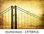 Grunge Image Of Golden Gate...