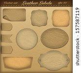 set of labels with stitching... | Shutterstock .eps vector #157587119