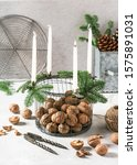 Rustic Christmas Advent Wreath...