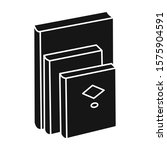 stack of books vector icon...