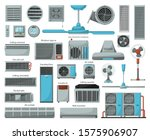 Air Ventilator Cartoon Vector...