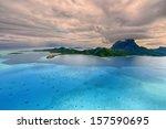 tropical island at bora bora  ...   Shutterstock . vector #157590695