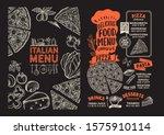 pizza menu template for... | Shutterstock .eps vector #1575910114