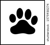 dog paw print. paw icon. vector ... | Shutterstock .eps vector #1575930274