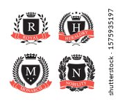 four different coat of arms.... | Shutterstock .eps vector #1575935197