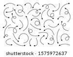 black dotted hand drawn arrows... | Shutterstock .eps vector #1575972637