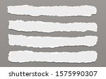 pieces of torn horizontal white ...   Shutterstock .eps vector #1575990307
