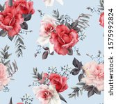seamless floral pattern with... | Shutterstock . vector #1575992824